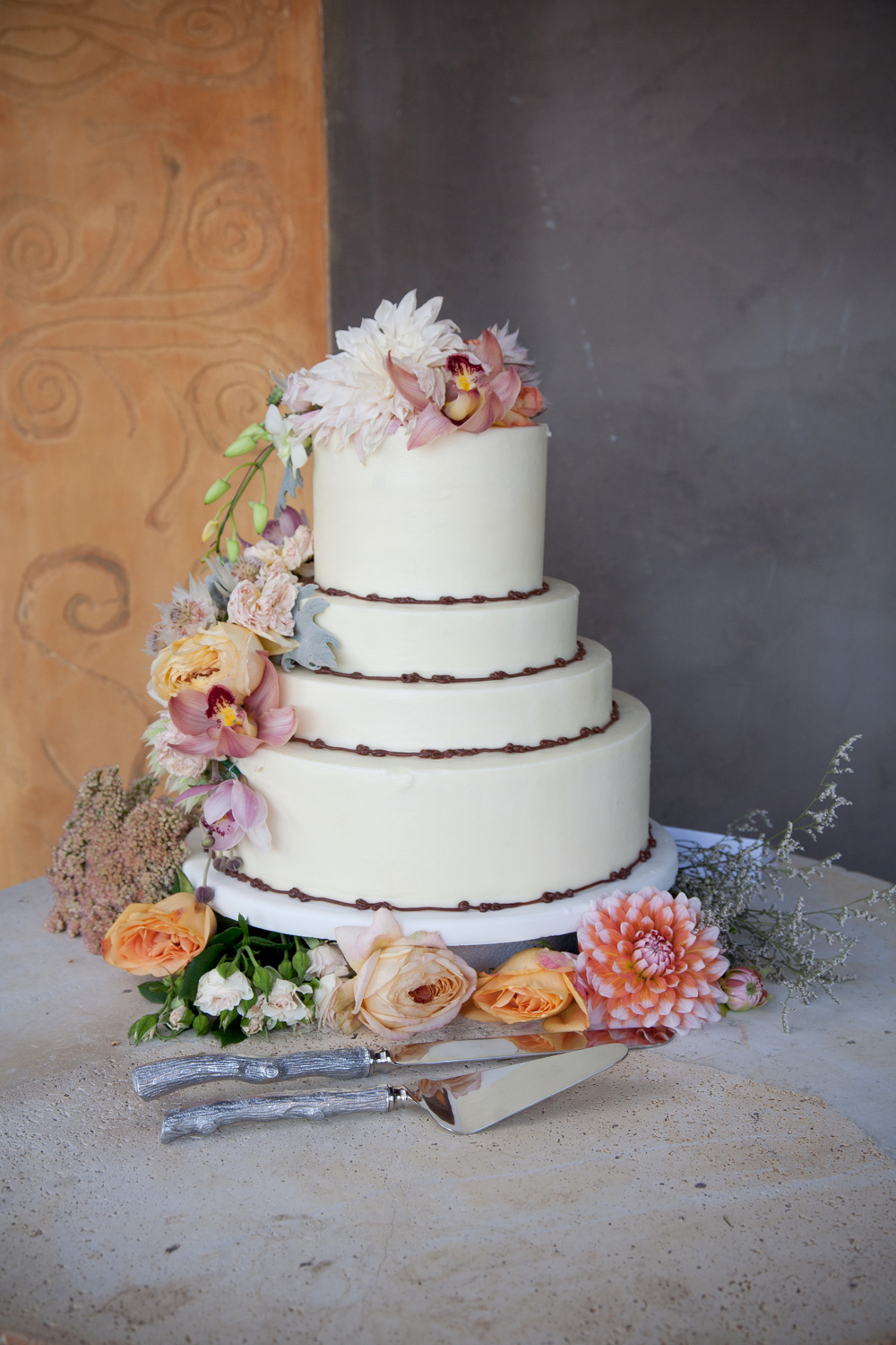 The wedding cake from Flour Chylde Bakery