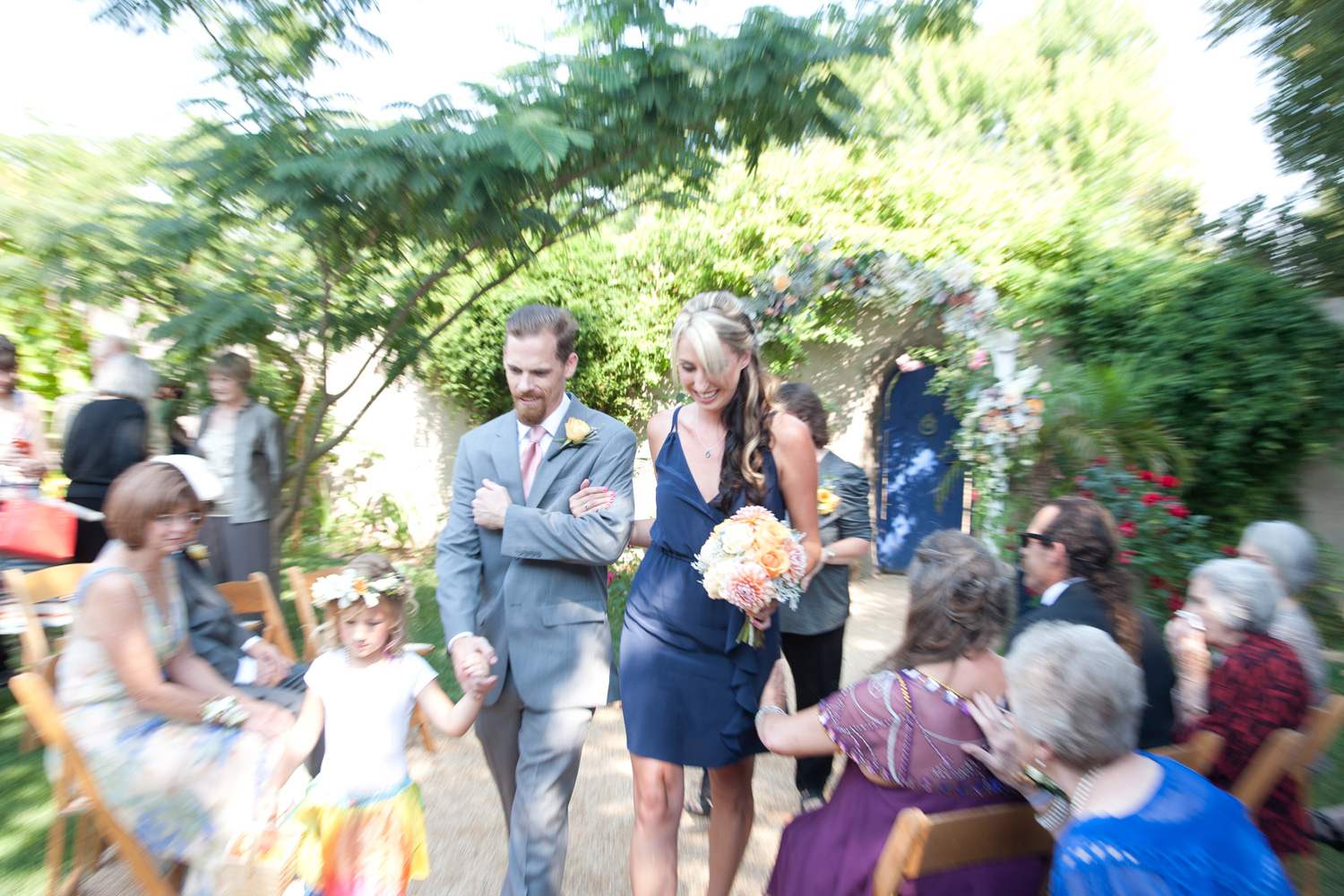 The wedding party recessional